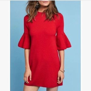 Moth Chester Bell Sleeve Sweater Tunic Dress